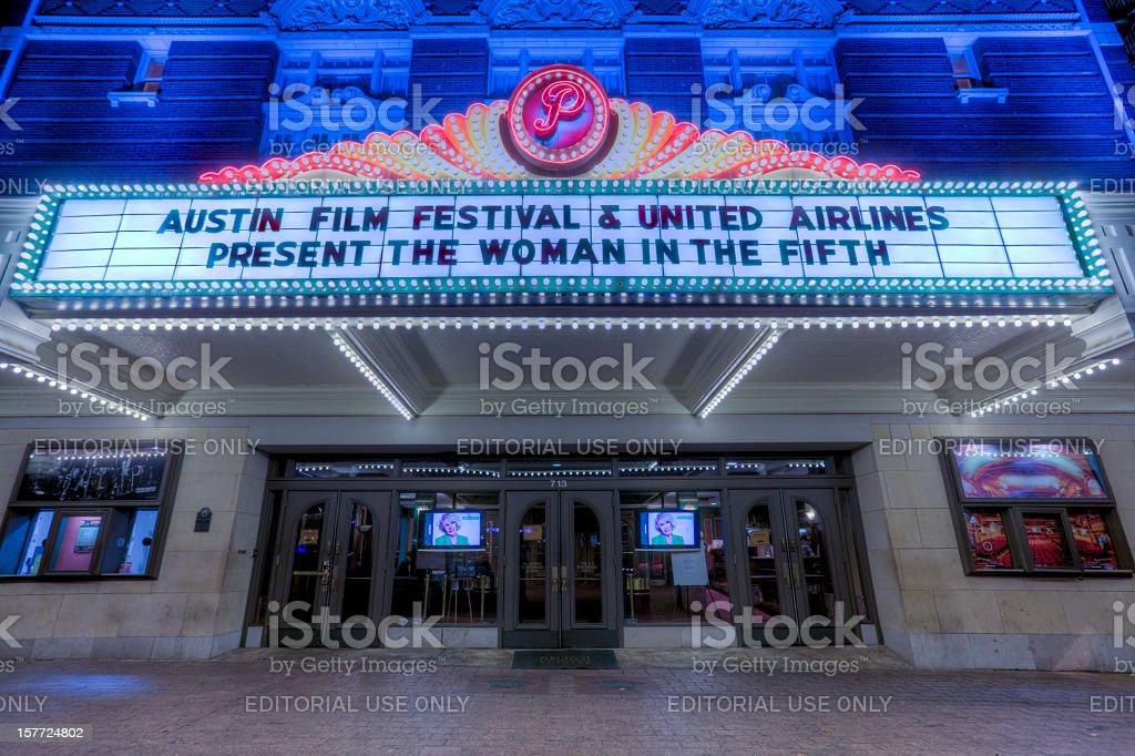 Austin's Paramount Theater royalty-free stock photo
