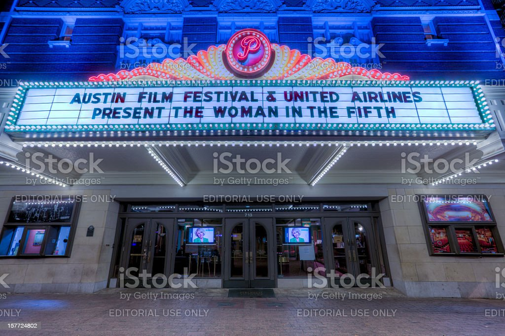Austin's Paramount Theater stock photo
