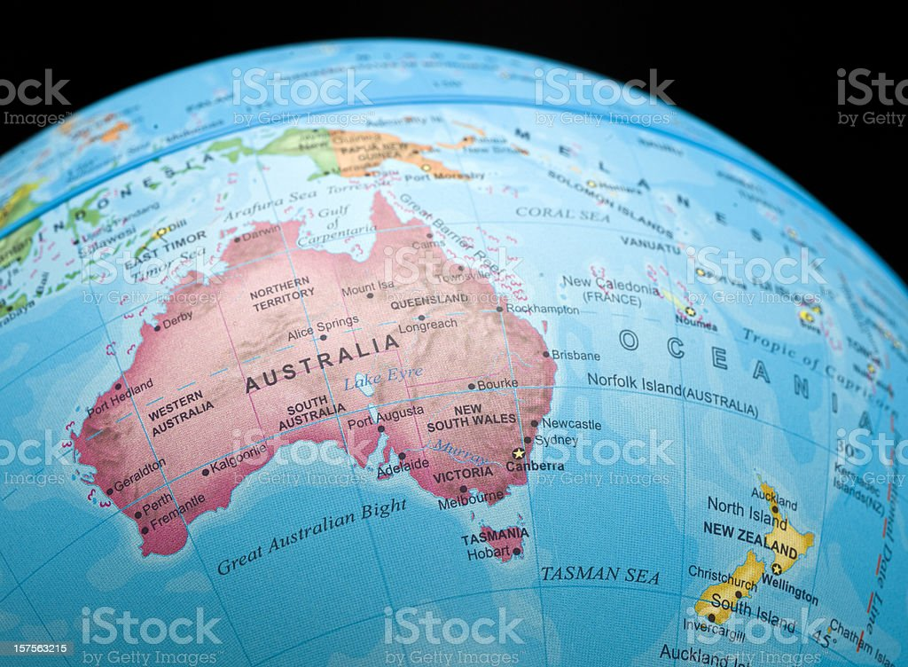 Australia and New Zealand stock photo