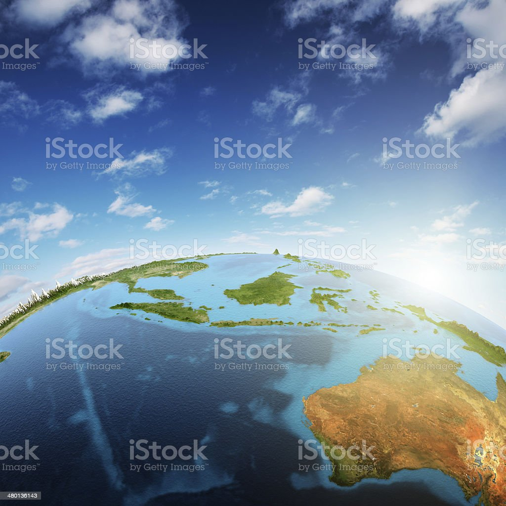 Australia and South-East Asia stock photo