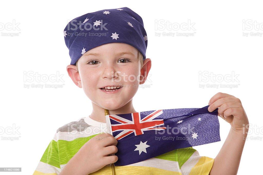 Australia Bandana Boy stock photo