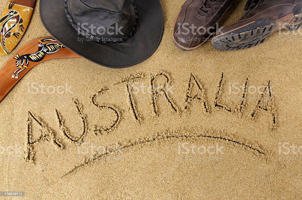 Australia beach scene stock photo