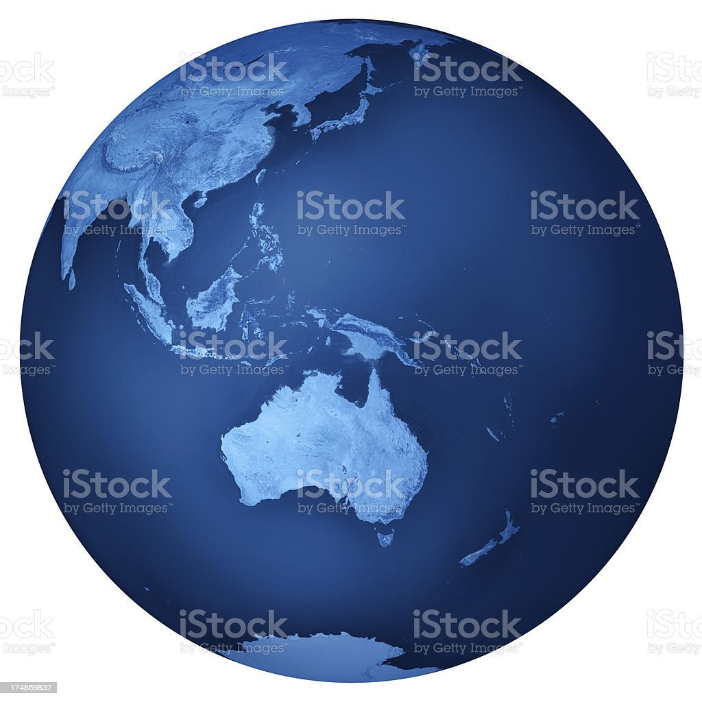 Australia Blue Planet Earth Isolated royalty-free stock photo