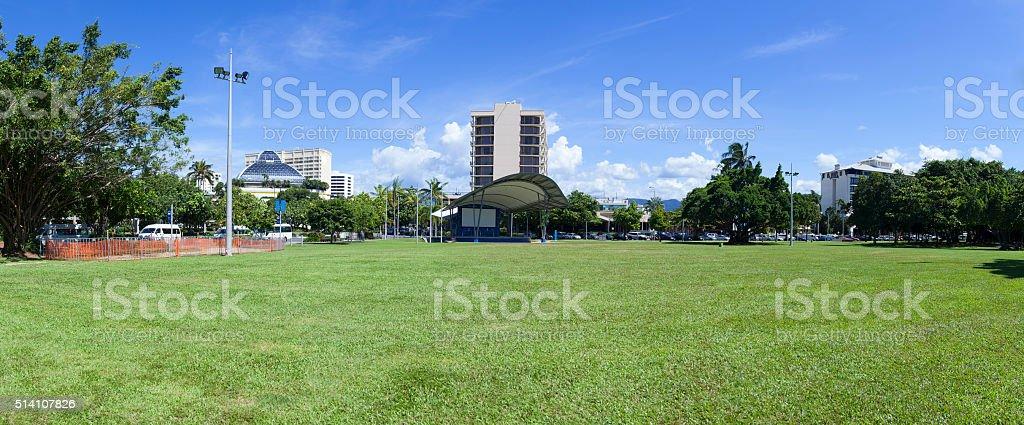 Australia Cairns city building stock photo