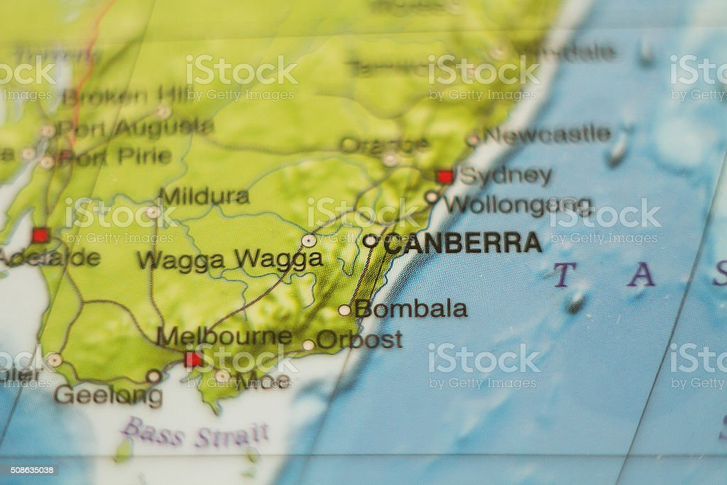 Australia country map . stock photo