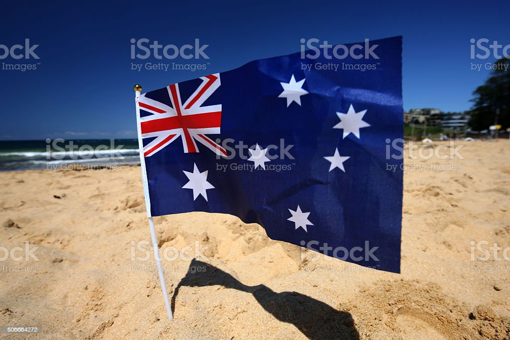 Australia Day Celebrations in Avoca Beach, NSW Central Coast royalty-free stock photo