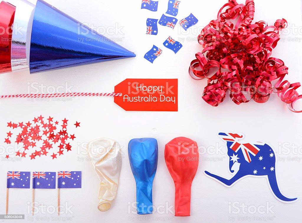 Australia Day party decorations. stock photo