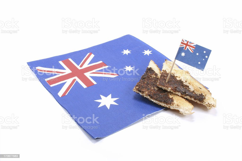 Australia Day vegemite and flag stock photo