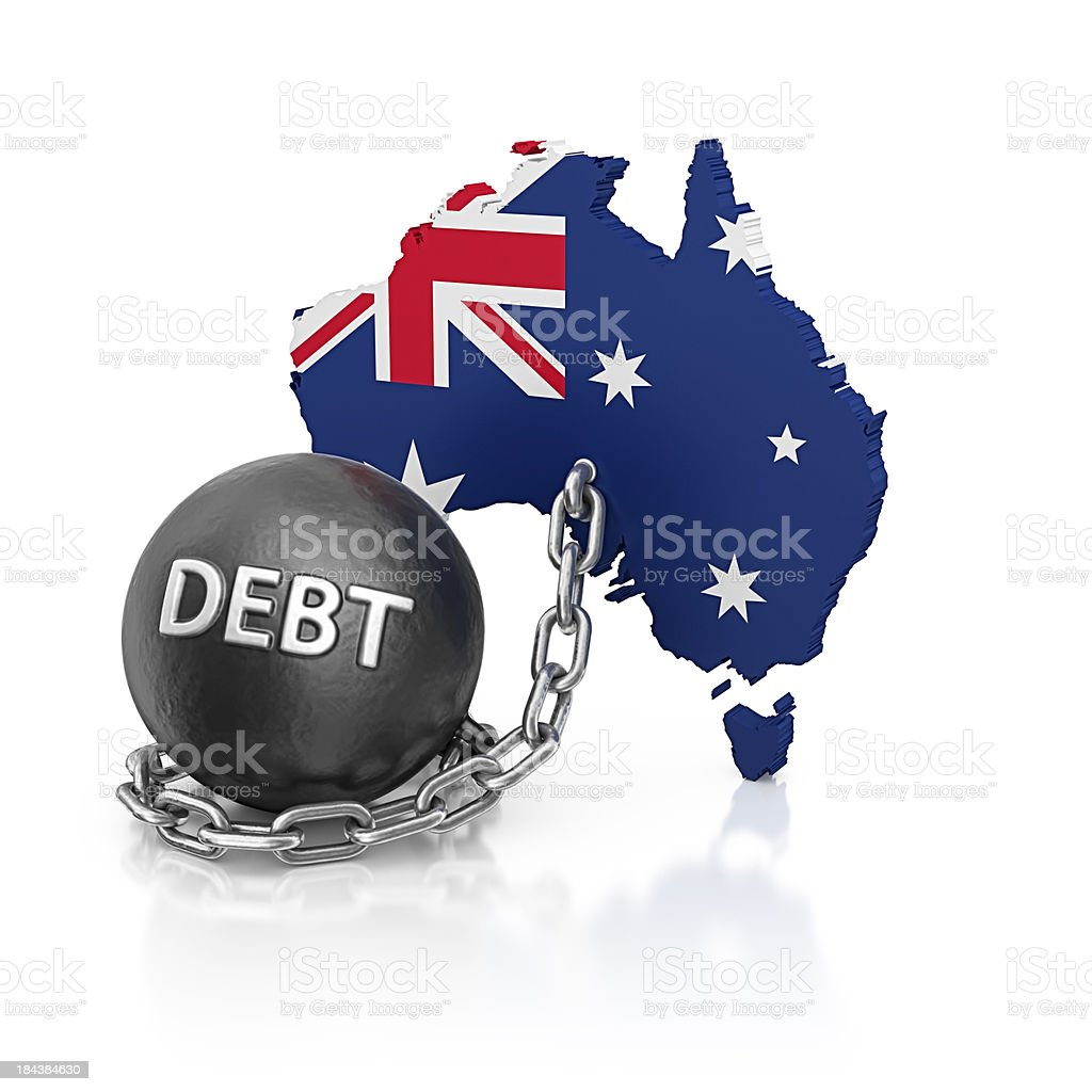 australia debt royalty-free stock photo