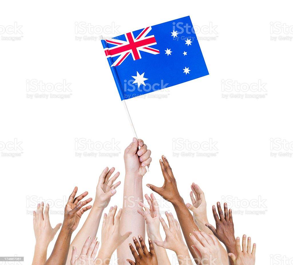 Australia Flag royalty-free stock photo
