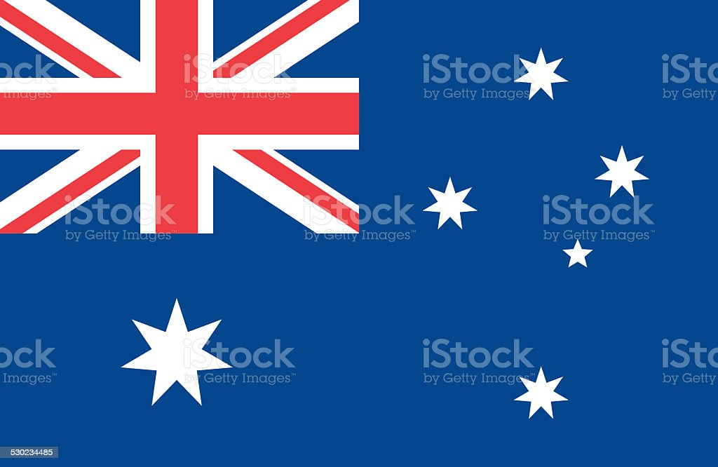 Australia Flag stock photo