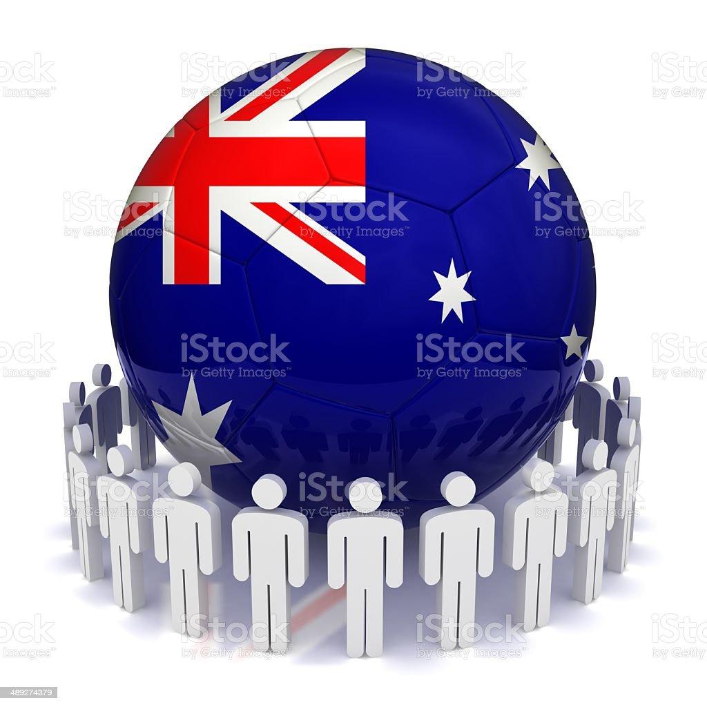 Australia Football Team stock photo