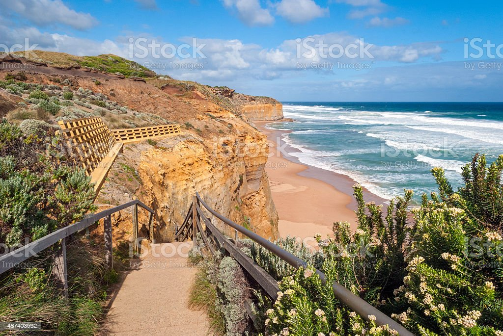 Australia, Great Ocean Road near Twelve Apostles stock photo