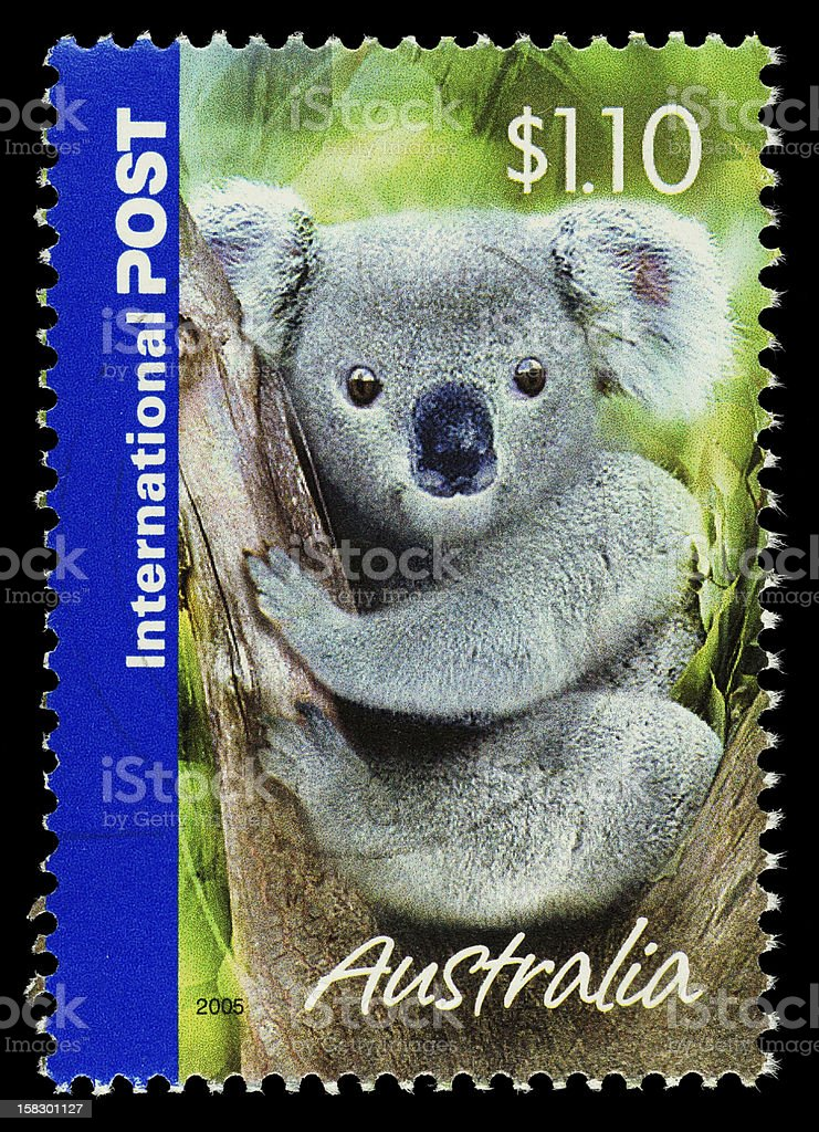 Australia Koala Bear Postage Stamp royalty-free stock photo