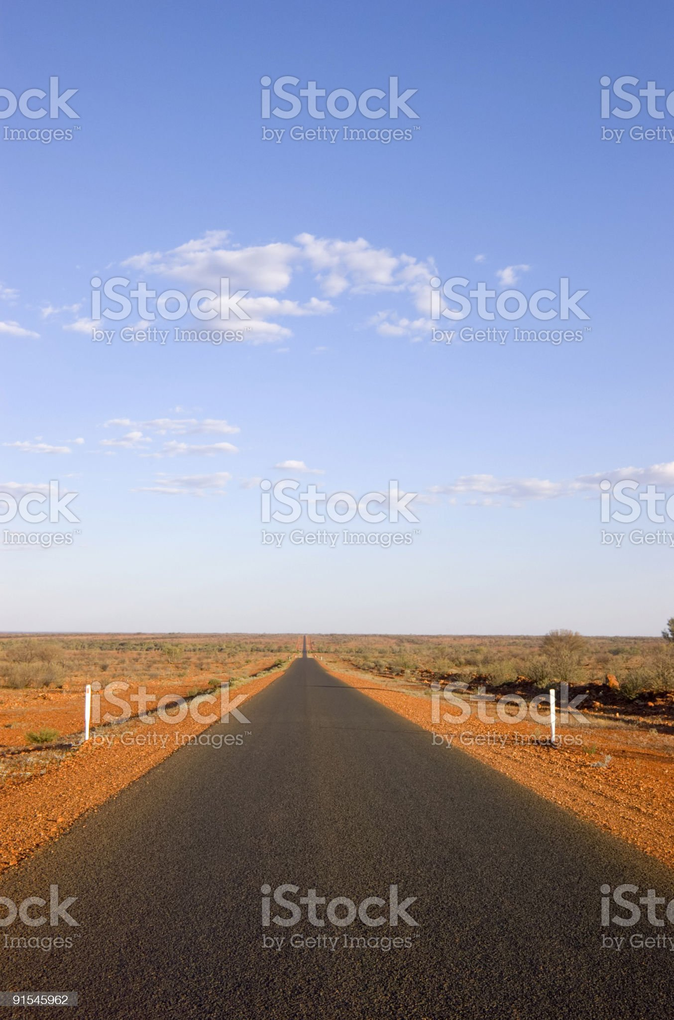 Australia Long Straight Outback Road royalty-free stock photo