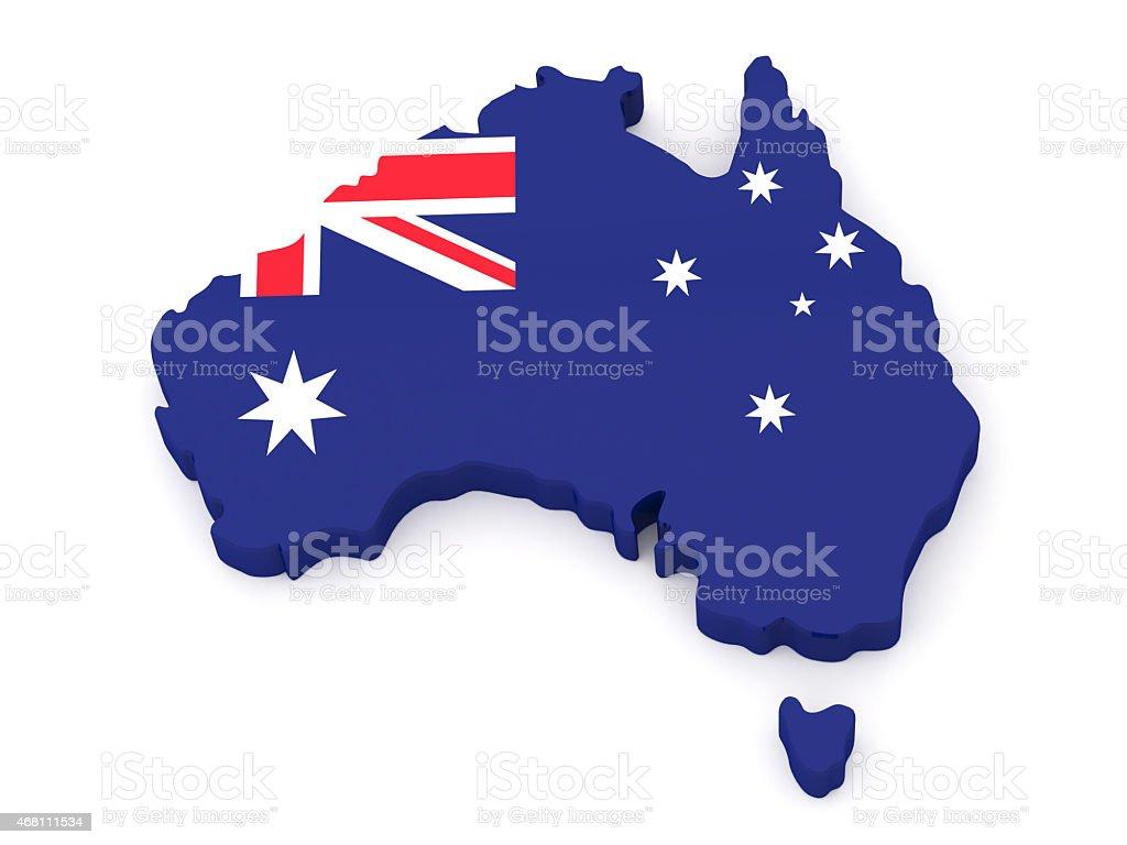 Australia Map stock photo