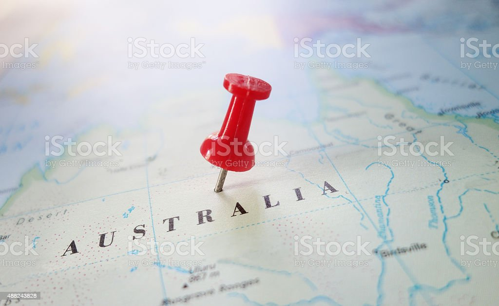 Australia map stock photo