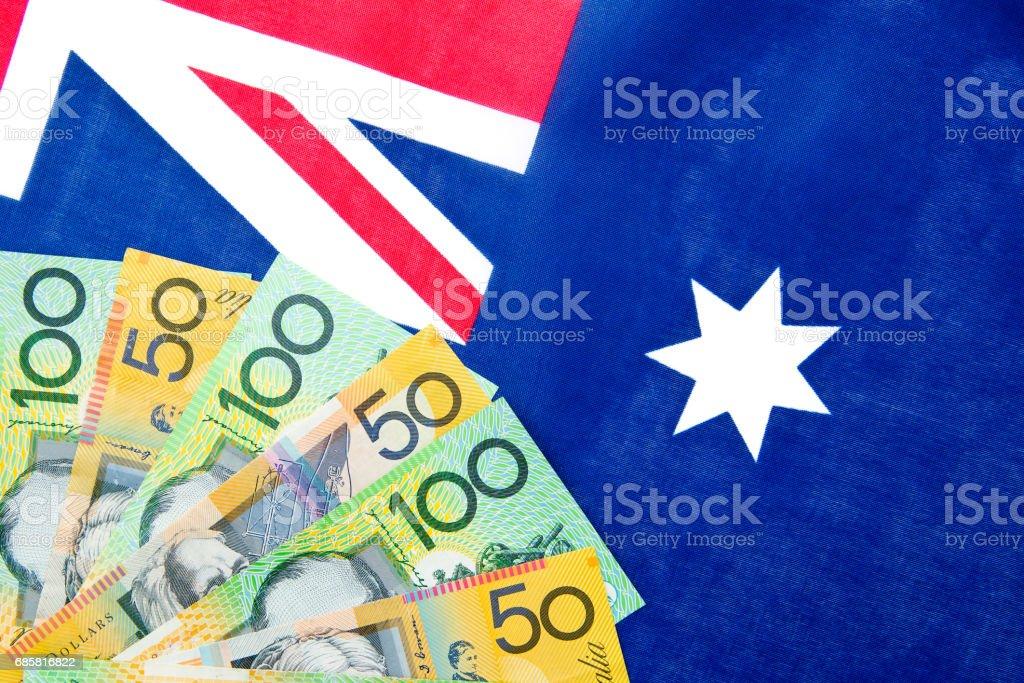 Australia - Money and Flag stock photo