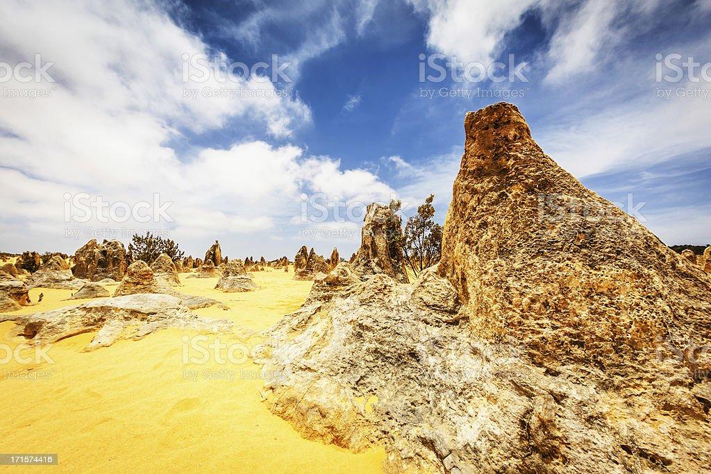 Australia Nambung National Park Pinnacles Desert stock photo