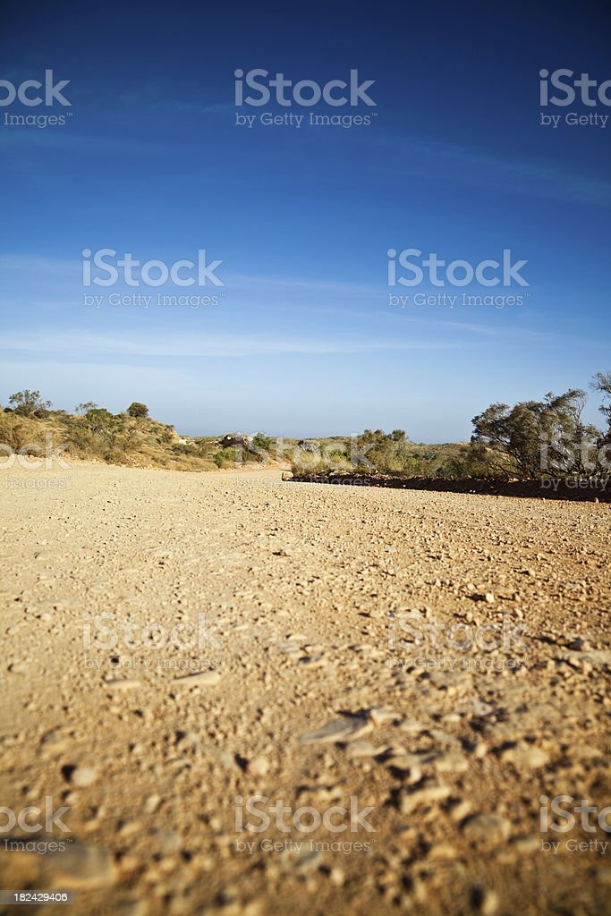 Australia Outback Rural Dirt Road royalty-free stock photo