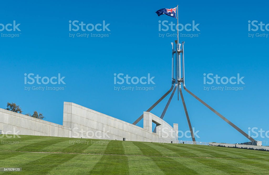 Australia Parliament stock photo
