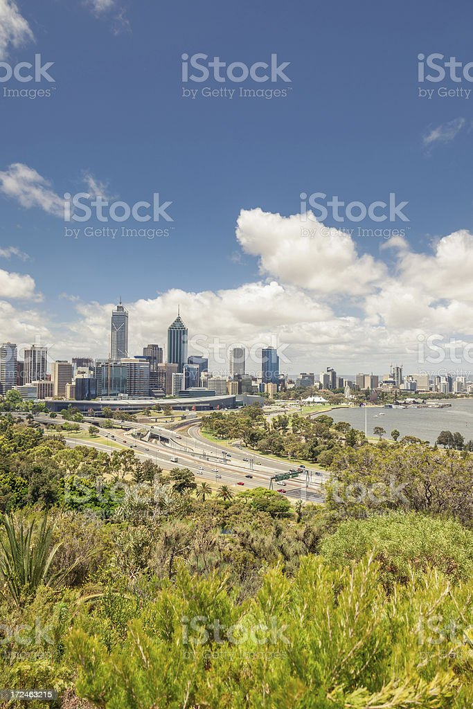 Australia Perth Skyline stock photo