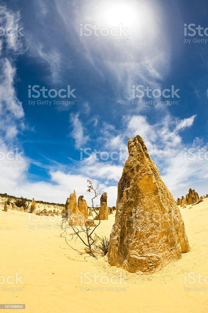 Australia Pinnacles Desert royalty-free stock photo