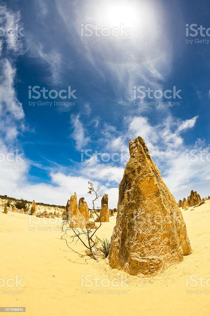 Australia Pinnacles Desert stock photo