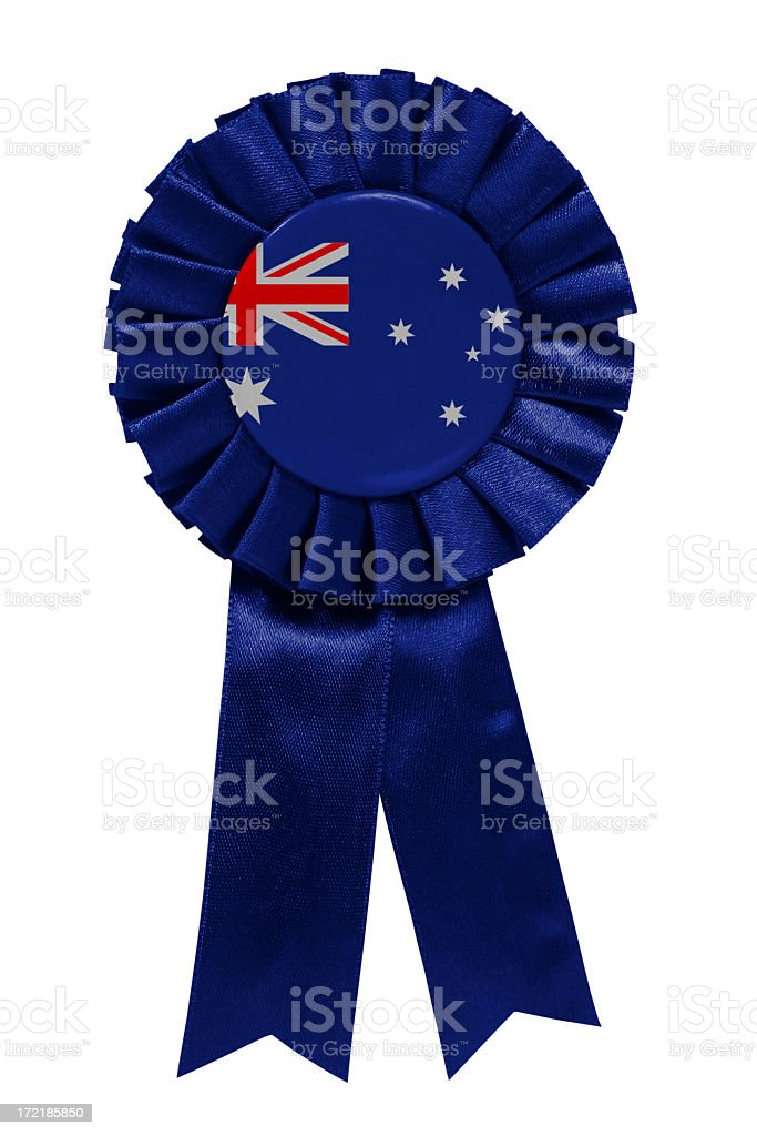 Australia ribbon royalty-free stock photo