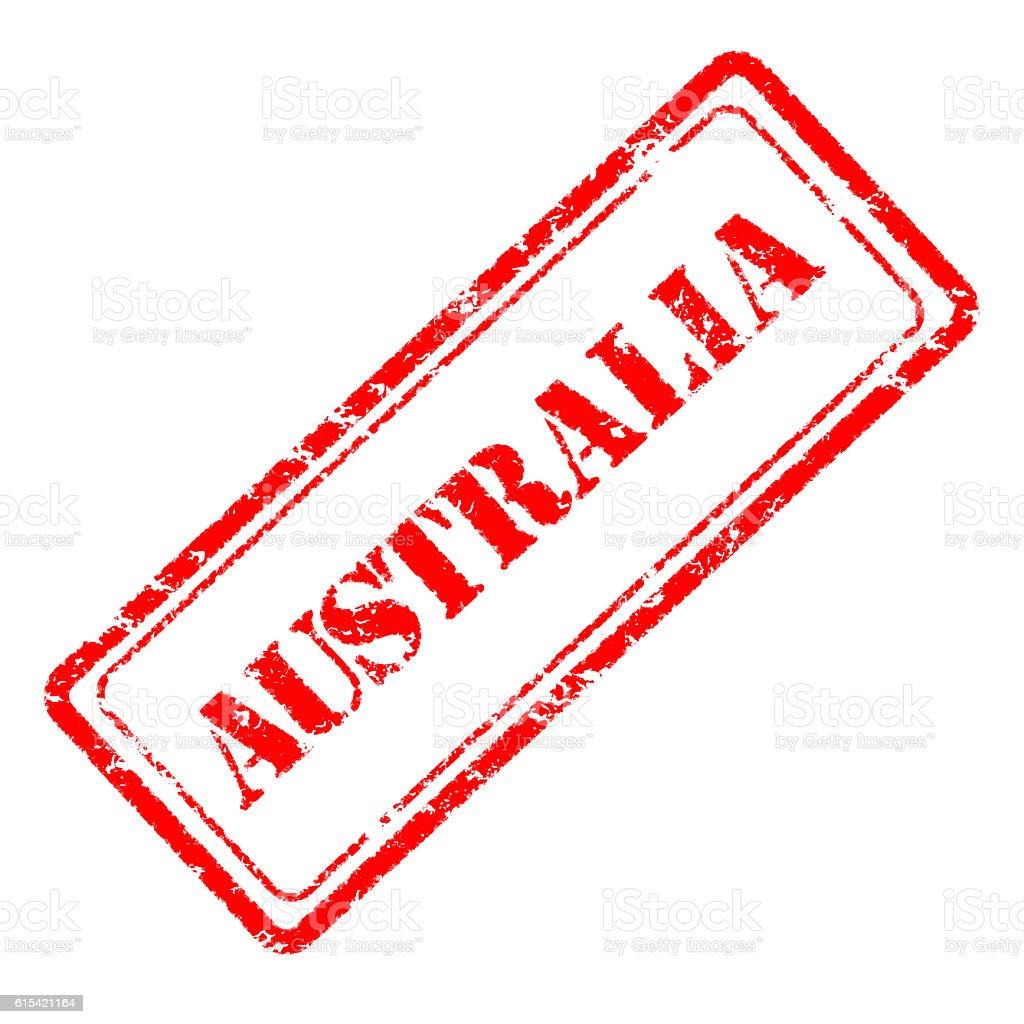 Australia rubber stamp stock photo