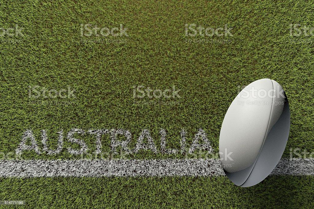 Australia rugby background stock photo