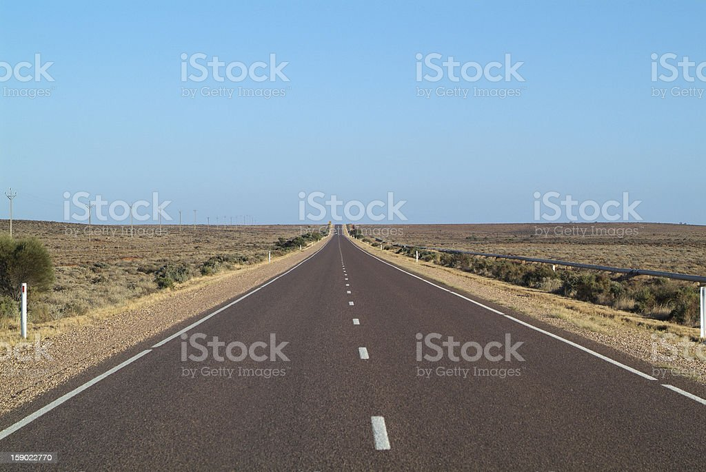 Australia, straight road royalty-free stock photo