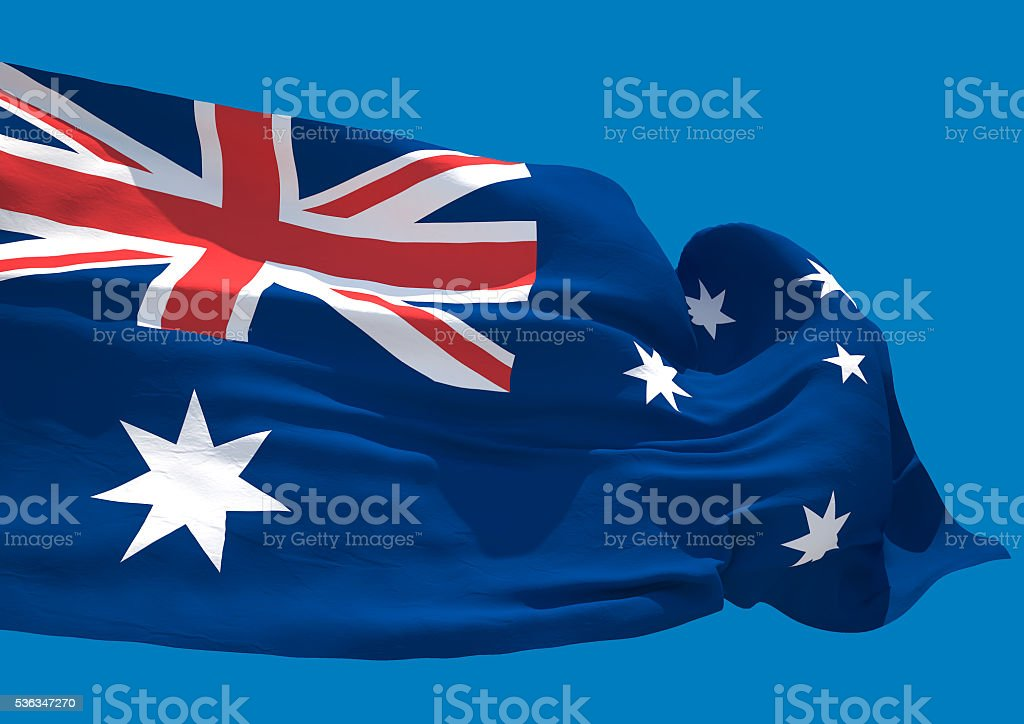 Australia wave flag HD stock photo