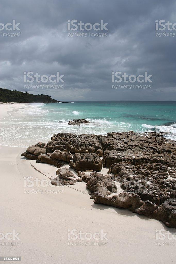 Australia white beach stock photo