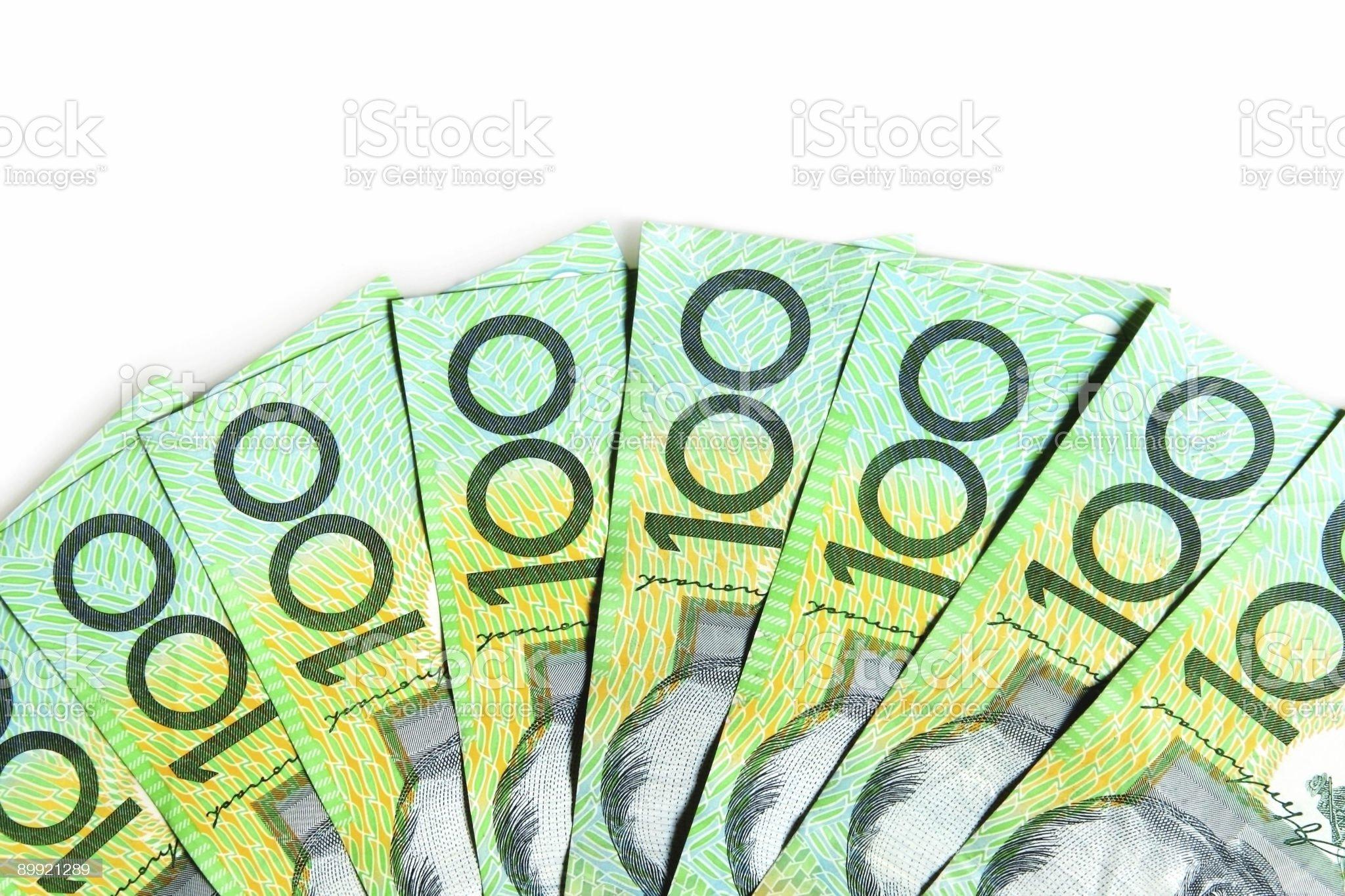 Australian $100 Bills royalty-free stock photo