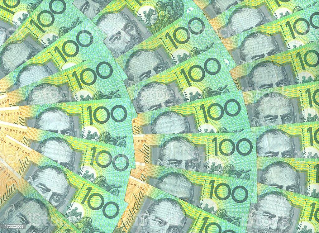 Australian 100$ Notes stock photo