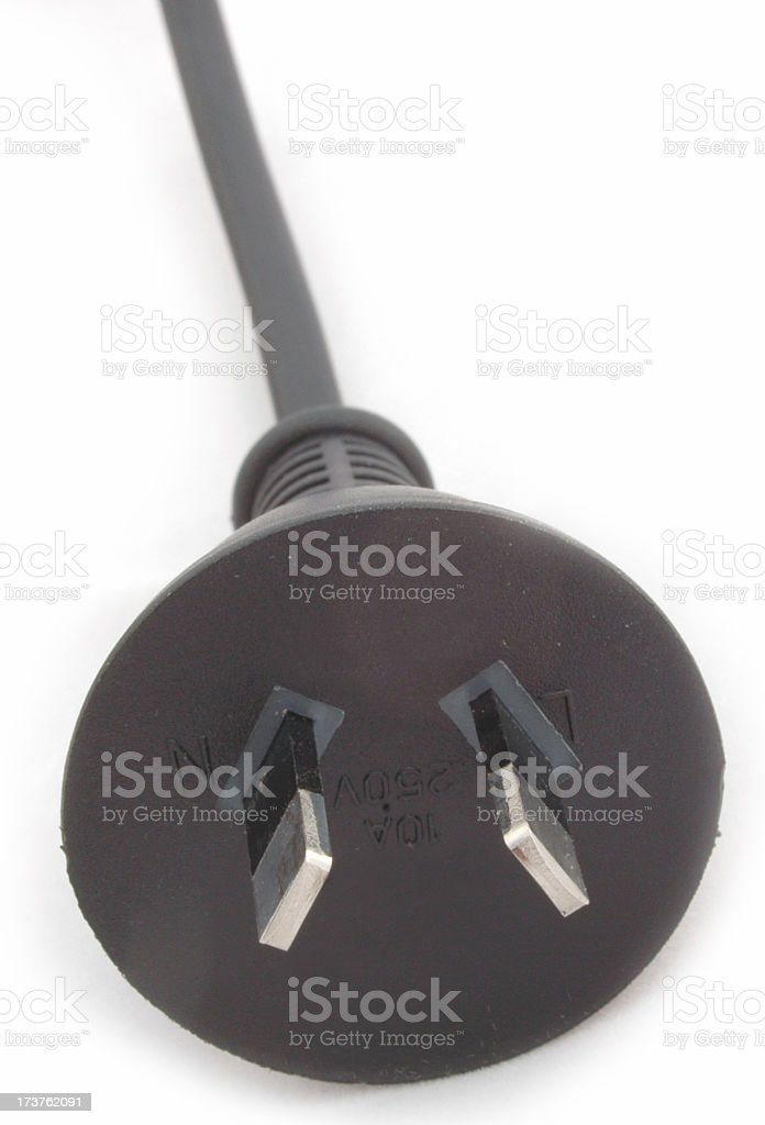Australian 240v power plug royalty-free stock photo