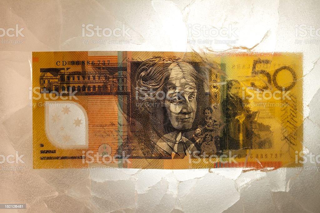 Australian 50 dollar note stock photo