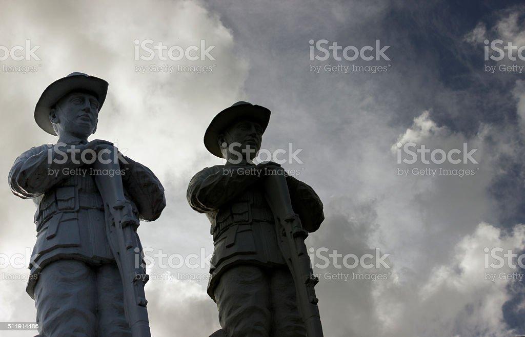 Australian ANZAC soldier public statues stock photo