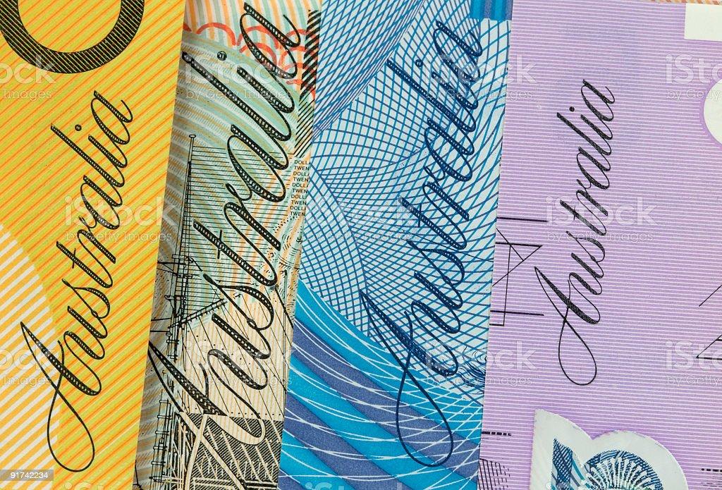 Australian Banknotes. stock photo