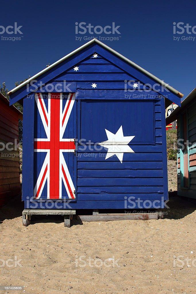 Australian Beach Hut royalty-free stock photo