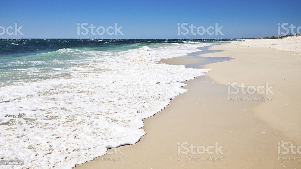 Australian Beach Waves royalty-free stock photo