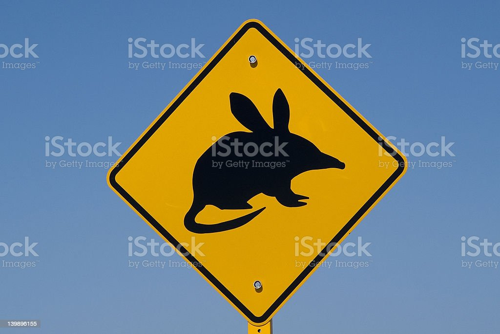 Australian bilby Sign stock photo
