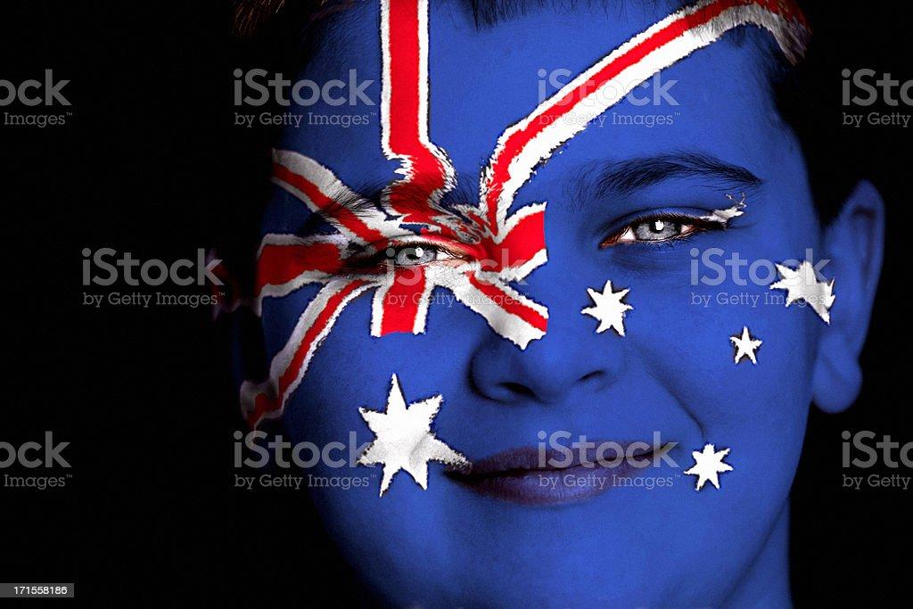 Australian boy royalty-free stock photo