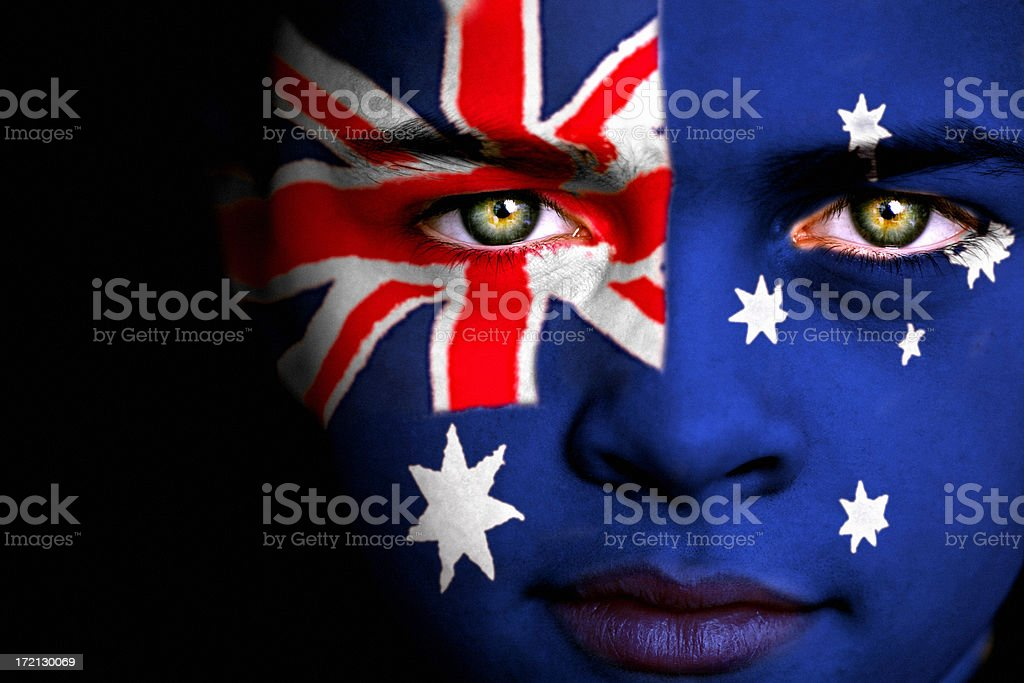 Australian Boy stock photo