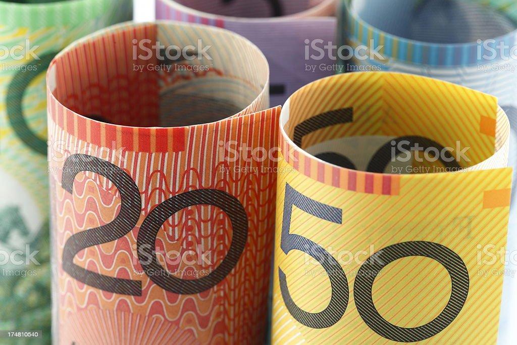 Australian Cash royalty-free stock photo