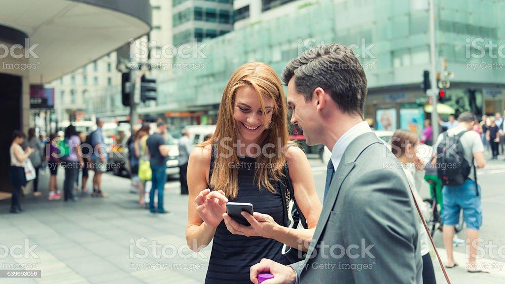 Australian city professionals stock photo