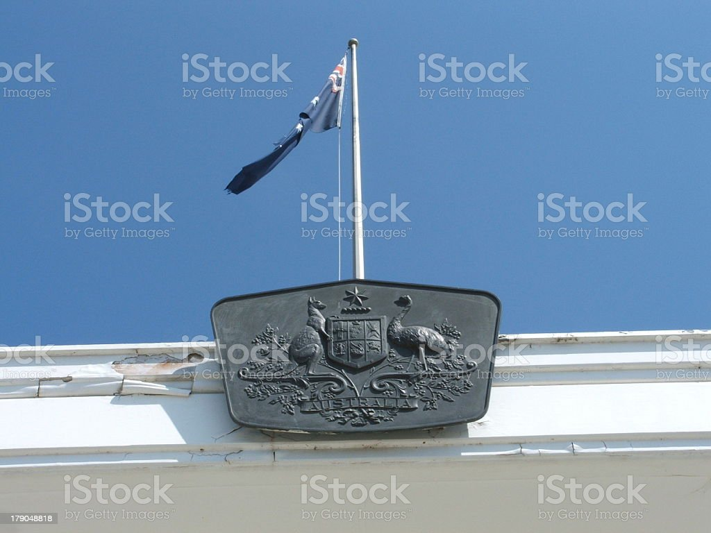 Australian Coat of Arms royalty-free stock photo