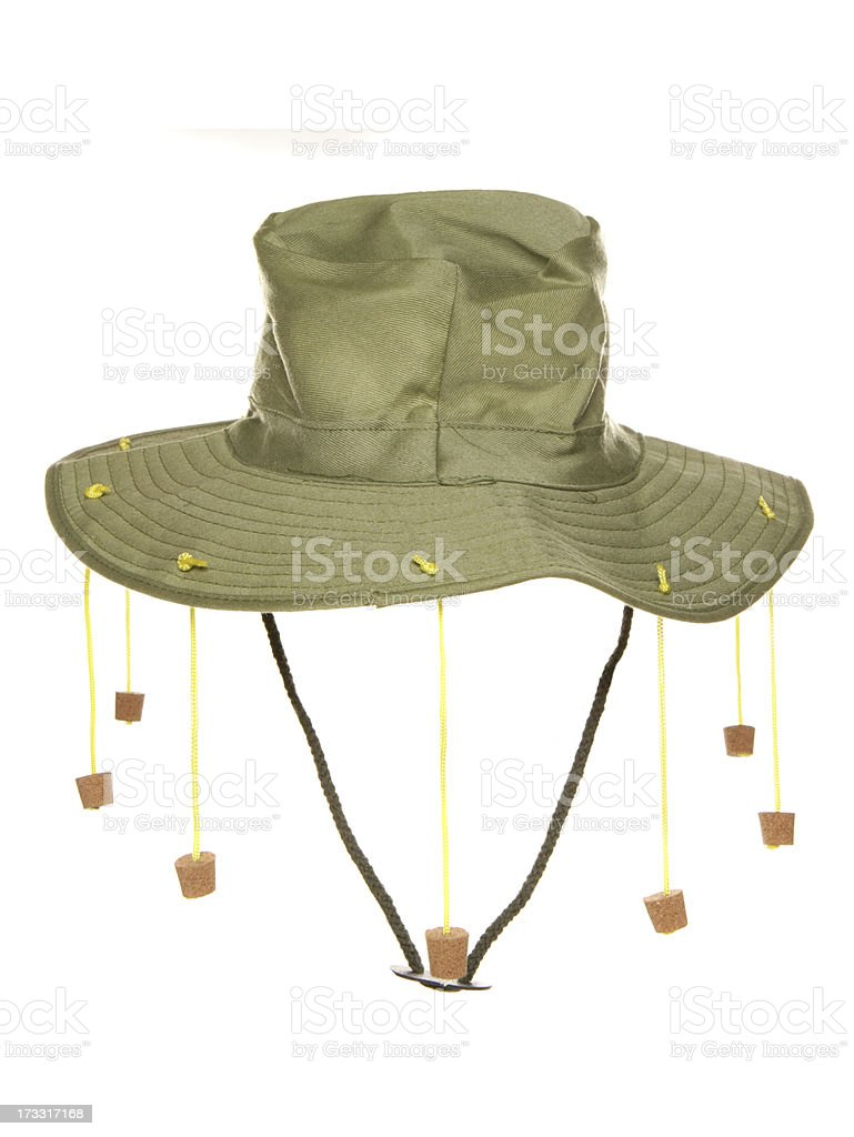 Australian cork hat stock photo