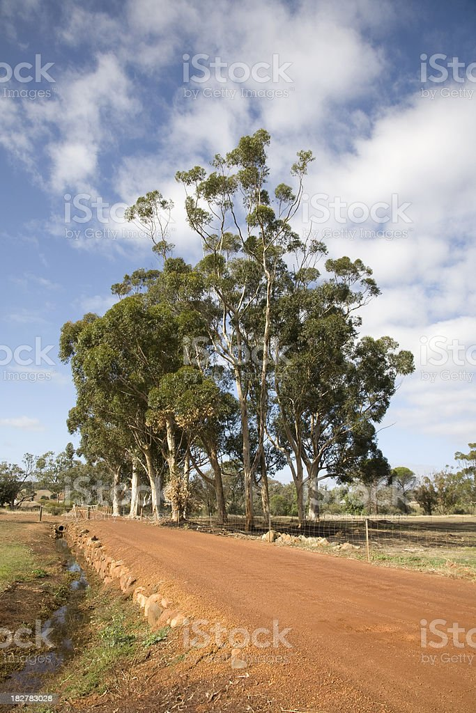 Australian Country Road stock photo